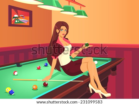 Ball billiards competition gay hall pool sexy table