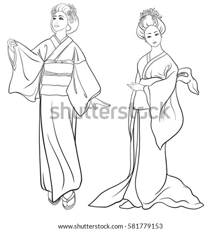 how to draw a kimono easy