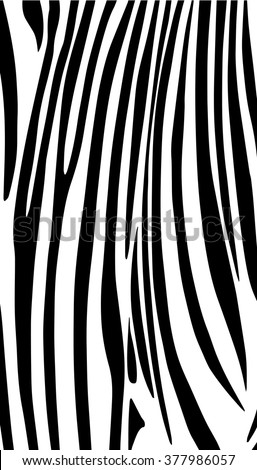 Zebra print pattern. Black and white vertical striped texture. Template  background with African zebra