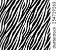 Zebra skin repeated seamless pattern. Black and white colors. 2x2 sample. - stock vector