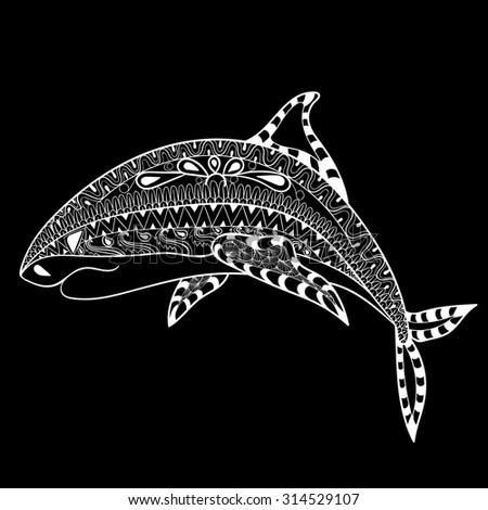 Zentangle Shark Totem Adult Anti Stress Stock Vector 314076734 ...