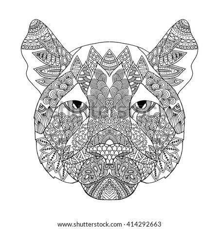 Zentangle Stylized Doodle Ornate Vector Chihuahua Stock