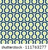 Zig zag pattern in green and blue. Seamless vector illustration. - stock vector