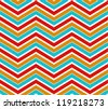 Zigzag seamless pattern. Colorful chevron ornament. Vector illustration - stock vector