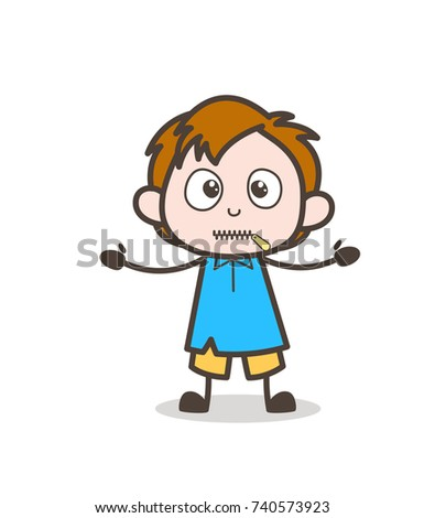 Cartoon Scientist Hit By Wall Vector Stock Vector ...