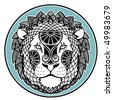 Zodiac signs - Leo - stock vector